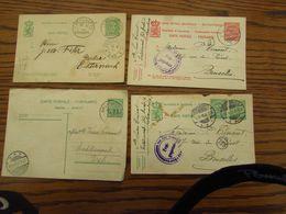 Luxembourg: Lot De 4 Entiers Postaux (dont 1 REPONSE Oblitérée Bxl) (de 1918 à 1939) - Postwaardestukken