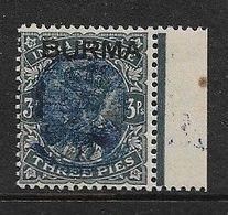 JAPANESE OCCUPATION OF BURMA 1942 3p SG J22 MOUNTED MINT Cat £4 - Birmanie (...-1947)