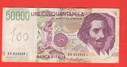 50.000 50000 Lire Bernini II° Tipo 1997 Fazio / Amici - [ 2] 1946-… : Repubblica