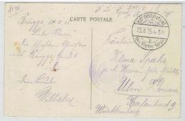 Feldpoststempel - K.D. Feldpostambt Des Marine-Korps 25-8-1915 Op Kaart Bruges La Place Simon Stévin - Posta Militare
