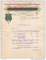 76 LE HAVRE FACTURE 1921 HUILES & GRAISSES Industrielles MARTIN & CIe  *  K20 - 1900 – 1949
