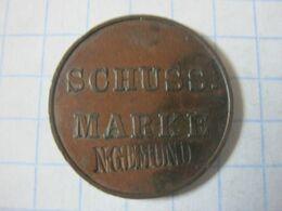 Germany , Shooting Token , Schuss Marke 1863 (N.Gemund) - Duitsland