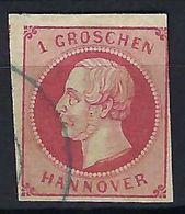 ALLEMAGNE HANOVRE 1859: Le Y&T 17 Obl. CAD Bleue - Hanover