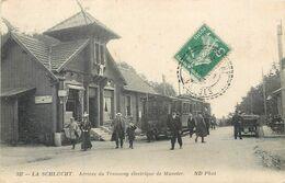CPA 88 Vosges La Schlucht Arrivée Du Tramway Electrique De Munster - Frankreich