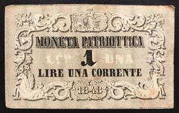 Venezia 1 Lira Moneta Patriottica 1848  LOTTO 953 - [ 4] Emissioni Provvisorie