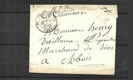 France Lettre En PP  Du 28 09 1838  De Amancey   ( Dans Le Doubs 670  Hts )  Pour  Arbois - 1944-45 Maríanne De Dulac