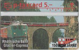 SUISSE - PHONE CARD - TAXCARD-PRIVÉE *** TRAIN - ZUG - BAHN - GLACIER-EXPRESS*** - Switzerland