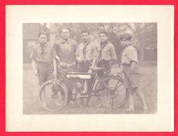 Moto-09Ph94  Photo D'une Moto ALCYON, Jeunes Scouts, BE - Motos