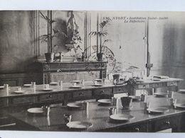 Carte Postale Institution Saint-André De Niort, Le Réfectoire, Affranchissement Cachet Intéressant, 16 Novembre 1925 - Niort