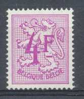 NB - [151206]SUP//**/Mnh-[1703] Belgique 1974, 4F Lilas-rose, Lion Héraldique, SNC - 1951-1975 León Heráldico