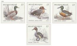 NB - [152906]TB//**/Mnh-[2332/35] Belgique 1989, Nature, Animaux, Oiseaux, Canards, SC, SNC - Anatre