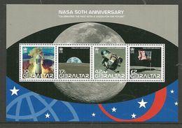 Gibraltar 2008 NASA 50th Anniversary, Space, Moonlanding, Mi Bloc 86 MNH(**) - Gibraltar