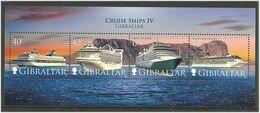 Gibraltar 2008 Cruise Ships, Century, Grand Princess, Queen Victoria, Costa Mediterranea, Mi Bloc 85 MNH(**) - Gibraltar