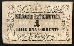 Venezia 1 Lira Moneta Patriottica 1848  LOTTO 1478 - [ 4] Emissioni Provvisorie