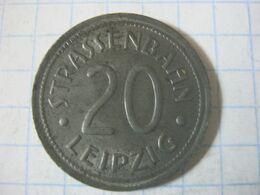Germany , Tram Token , Strassenbahn Leipzig , 20 Pfennig - Duitsland