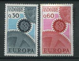 18880 ANDORRE N°179/80** 30c. Bleu-noir Et Bleu, 60c. Rouge Et Rose  Europa  1967  TB/TTB - French Andorra