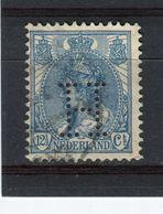 PAYS-BAS - Y&T N° 54° - Perfin - Perforé - Wilhelmine - Used Stamps