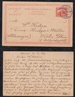Egypt 1909 Stationery Postcard CAIRO To KÖLN Germany - Egypt