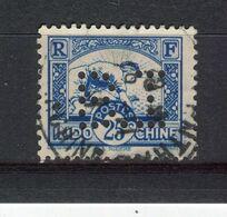 INDOCHINE - Y&T N° 217° - Perfin - Perforé - Rizière - Indochine (1889-1945)