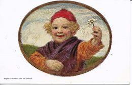 Professor Ludm.von Zumbusch  -   Happy Boy Holding A Flower In His Hand. - Zumbusch, Ludwig V.