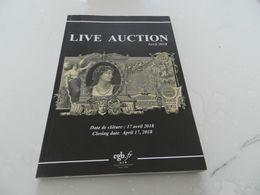 Live   Auction  Avril  2018  Billets De Banque  Cgb - Books & Software