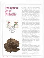 Exemplaire N°001 Feuillet Tirage Limité 500 Exemplaires Frappe Or Fin 23 Carats 2280 2281 Fleurs Roses Prom. Philatélie - Feuillets