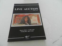 Live   Auction  Juillet    2018  Billets De Banque  Cgb - Books & Software