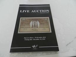 Live   Auction  Décembre     2018  Billets De Banque  Cgb - Books & Software