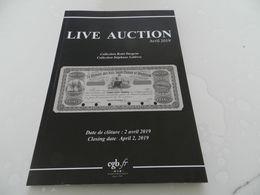 Live   Auction  Avril  2019    Billets De Banque  Cgb - Livres & Logiciels