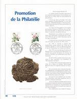 Feuillet Tirage Limité 500 Exemplaires Frappe Or Fin 23 Carats 2318 2319 Fleurs Roses - Feuillets