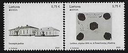 "LITUANIA /LITHUANIA /LITAUEN /LITUANE /LIETUVA - EUROPA 2020 - ""ANCIENT POSTAL ROUTES"" - SERIE De 2 V. - NN - Europa-CEPT"