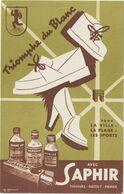 V P : Buvard :  Saphir  , Triomphe  Du  Blanc  , M. Monnot  Illustrateur - Unclassified