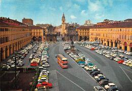 "010885 ""TO - P.ZZA S. CARLO-MONUMENTO E CHIESE"" AUTO '50/'60-BUS 2 PIANI.  SACAT.  CART NON SPED - Places & Squares"