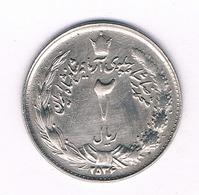 2 RIAL  2534 AH IRAN /5708/ - Irán
