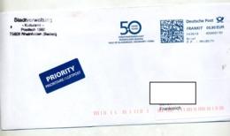 Lettre  Flamme Ema Frankit Jumelage Rheinfelden Egna Glamorgen - Machine Stamps (ATM)