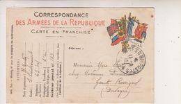 SP- Corespondance Des Armees De La Republique - Guerre 14 18 - - Guerra 1914-18