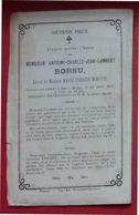 ANDENNE - COUTISSE - Faire-part De Décès De Antoine BORSU époux Marie-Thérèse MONJOIE - Overlijden