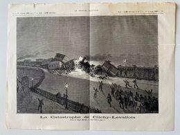 """Catastrophe Chemin De Fer De Clichy-Levallois  / Gravure Extraite Du Journal """"le Monde Illustré"""" Du 15/02/1880 - Other"""