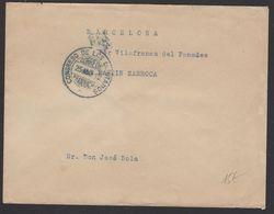 Enveloppe En Franchise Avec Cachet Couronné Du Congrès Des Députés + Lettre Autographe De S. RAVENTOS 1912 - 1931-50 Covers