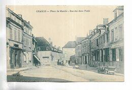 89 - CHABLIS - Place Du Marché - Rue Des Deux Ponts. Voiture Ancienne - Chablis