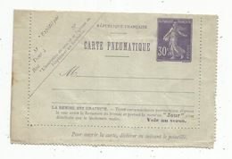 Pneumatique , ENTIER POSTAL , Neuf ,30 C ,  2 Scans - Postal Stamped Stationery