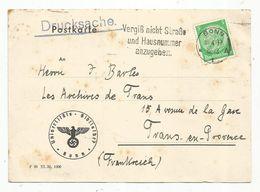 Postkarte , Carte Postale , Allemagne ,BONN 1 ,  1937 , UNIVERSITÄTS-BIBLIOTHEK, 2 Scans - Lettres & Documents