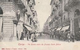 Piemonte - Torino - Via Roma Vista Da Piazza Carlo Felice - - Places