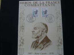 FRANCE FDC  Sur Soie  RENE CASSIN   Tirage 1800 Expl. - Unclassified