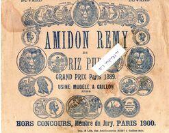 BUVARD -  D49  1 - Amidon Rémy De Riz Pur. Grand Prix Paris 1889. - Agriculture