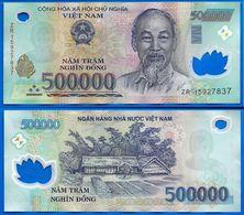 Vietnam 500000 Dong 2015 Prefixe ZR Que Prix + Port 500 000 Asie Asia Billet Polymere Paypal Bitcoin OK - Vietnam