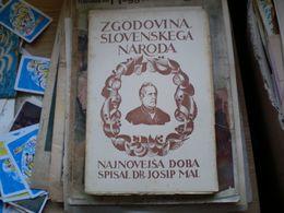 Zgodovina Slovenskega Naroda Najnovejsa Doba Spisal Dr Josip Mal Celje - Slavische Talen
