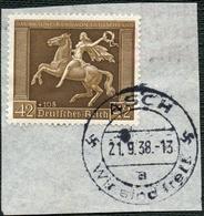 SUDETENLAND 1938, STPL-KBS ASCH VOM 21.9.1938 AUF DR 671 BRIEFSTÜCK SEHR SELTEN! - Sudètes