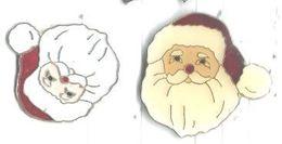 Tete De Père Noel Lot 2 Pins - Navidad