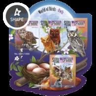 SIERRA LEONE - 2015 - World Of Birds, Owls - Perf 4v Sheet - M N H - Sierra Leone (1961-...)